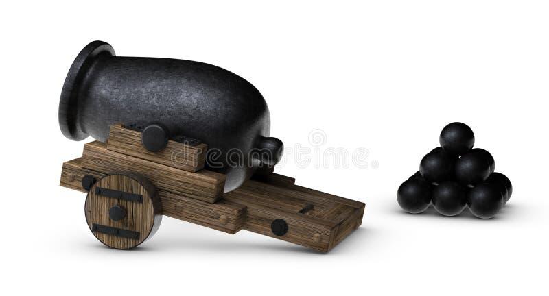 Canhão Blask ilustração stock