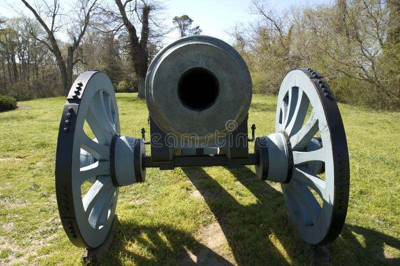 Canhão colonial de Yorktown   imagem de stock