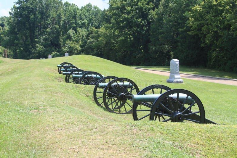 Canhão da guerra civil fotos de stock