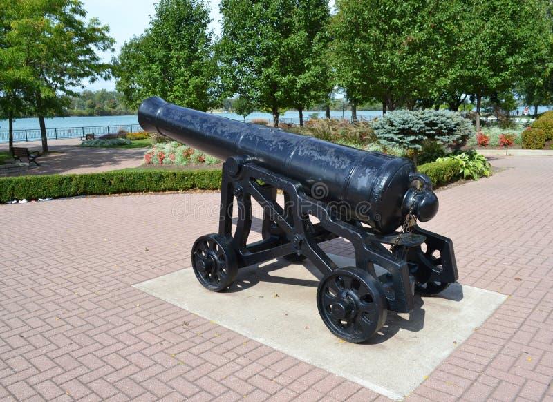Canhão da guerra civil foto de stock