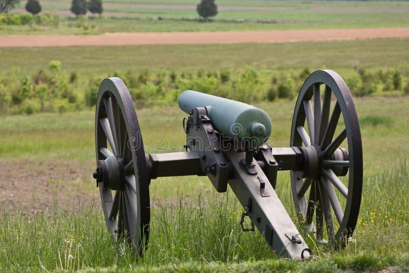 Canhão da guerra civil em Gettysburg fotos de stock royalty free