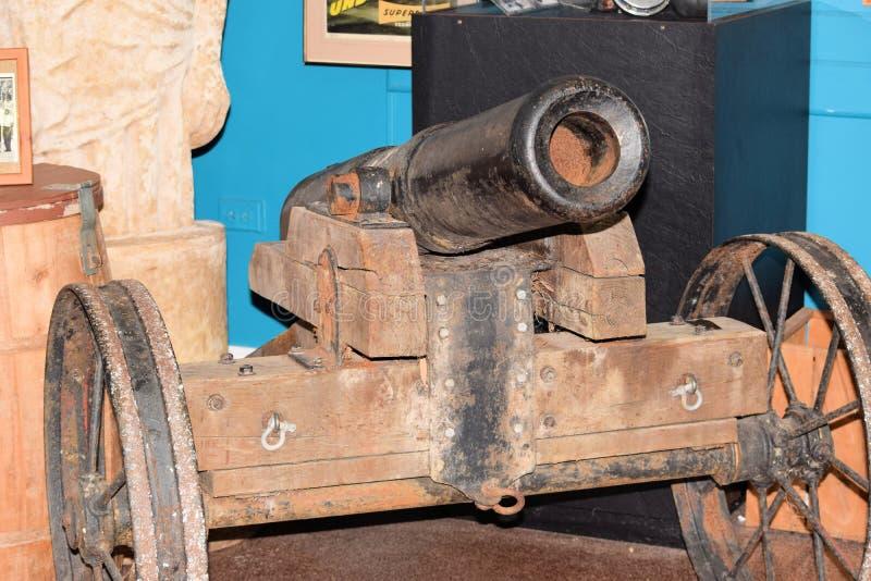 Canhão da guerra civil no museu fotografia de stock royalty free