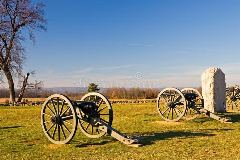 Canhão de Gettysburg - 2 imagens de stock royalty free