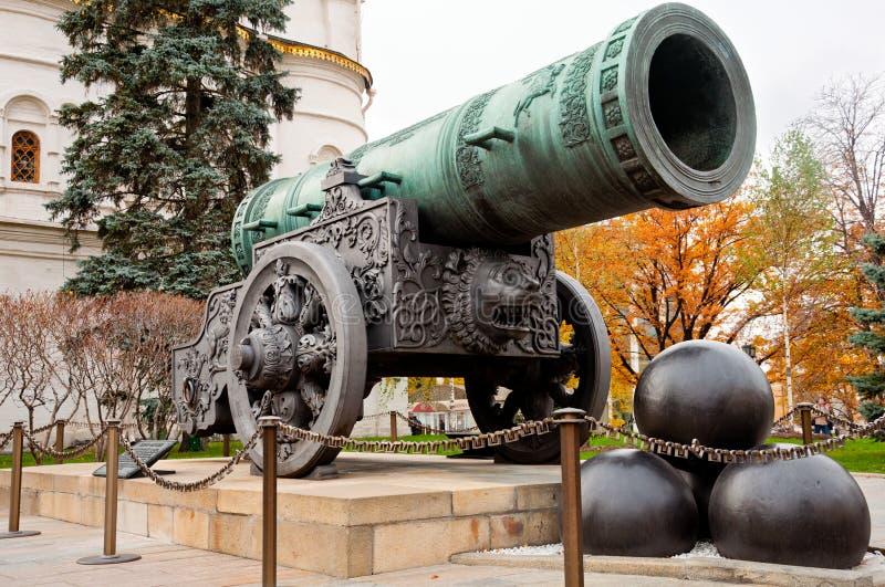 Canhão de Tsar em Moscovo Kremlin imagem de stock royalty free