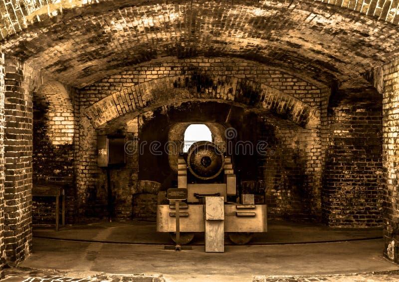Canhão famoso de Sumter do forte imagem de stock