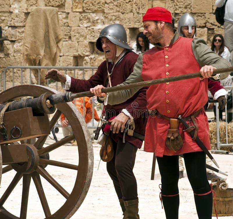 Canhão medieval imagem de stock royalty free