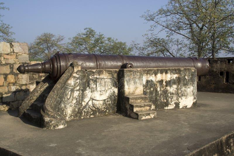 Canhão no forte de Jhansi imagens de stock royalty free