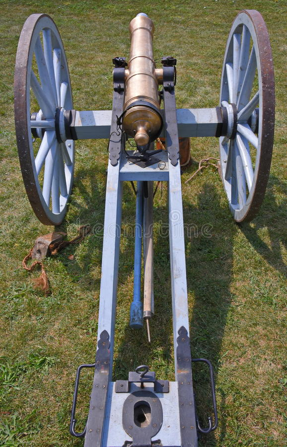 Canhão no forte Malden em Amherstburg, Ontário foto de stock