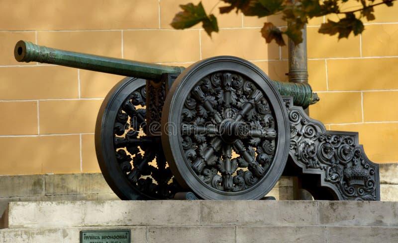 Canhão no Kremlin de Moscou fotografia de stock royalty free