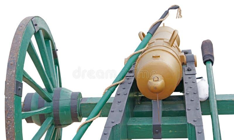 Canhão rodado antigo do ferro fundido imagens de stock