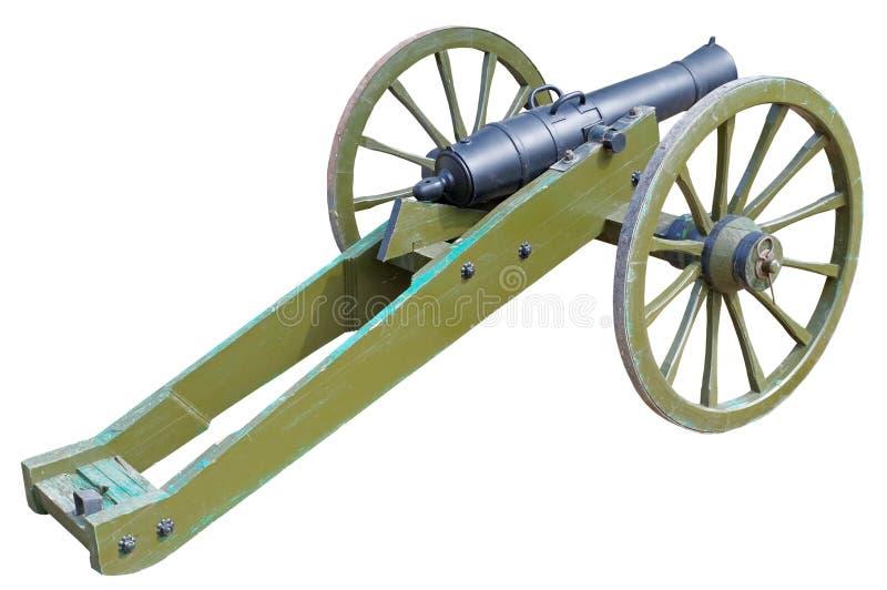 Canhão rodado antigo do ferro fundido imagem de stock