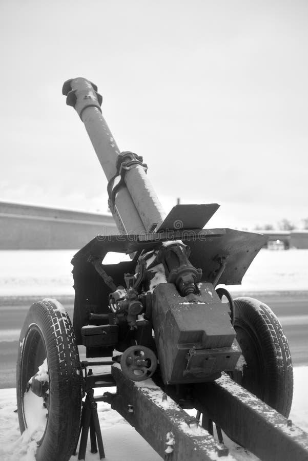 Canhão soviético velho imagem de stock royalty free
