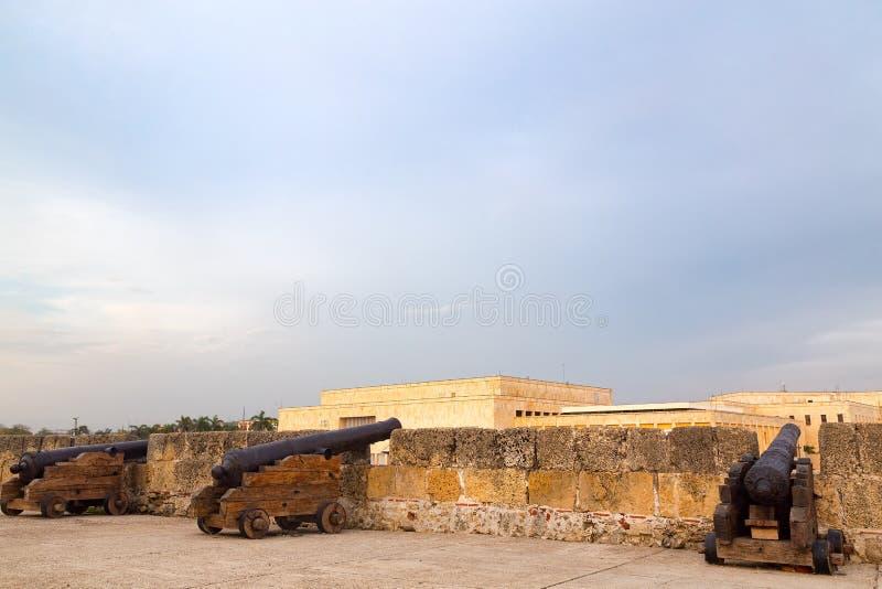 Canhões em Cartagena fotografia de stock royalty free