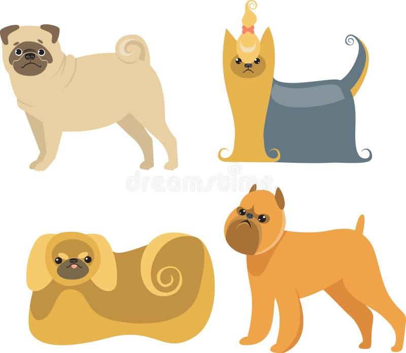 Cani del fumetto illustrazione vettoriale