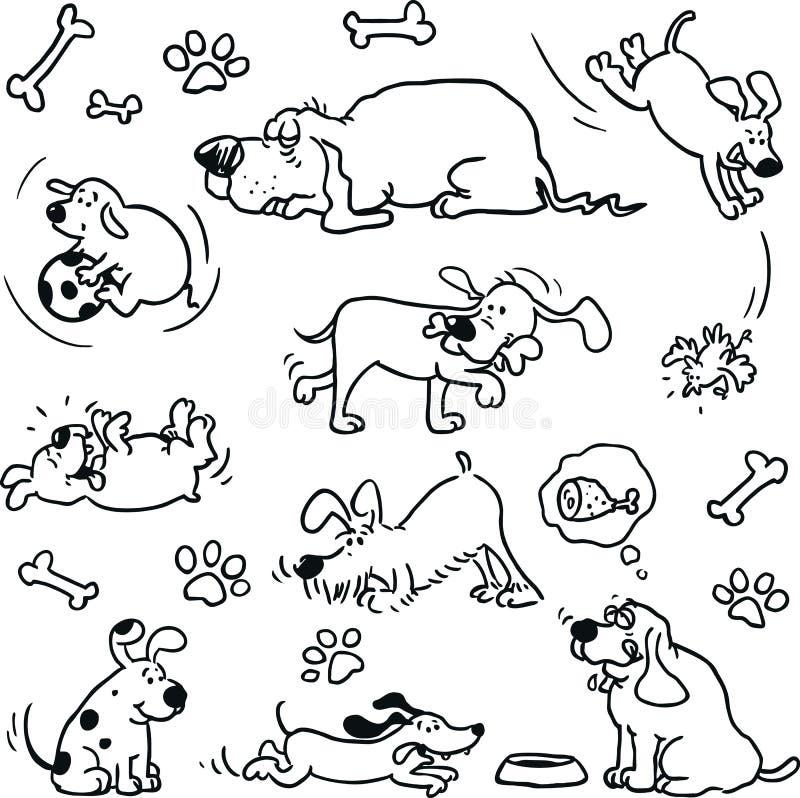 Cani divertenti illustrazione vettoriale