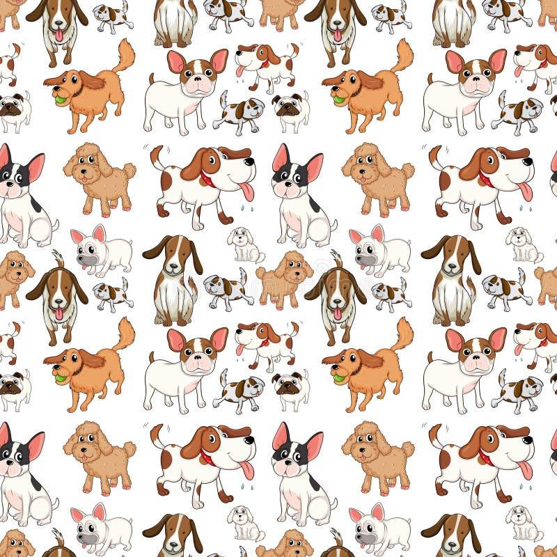 Cani senza cuciture royalty illustrazione gratis