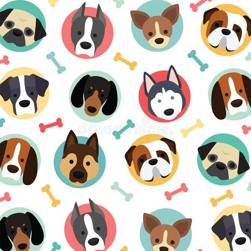 Cani svegli messi royalty illustrazione gratis