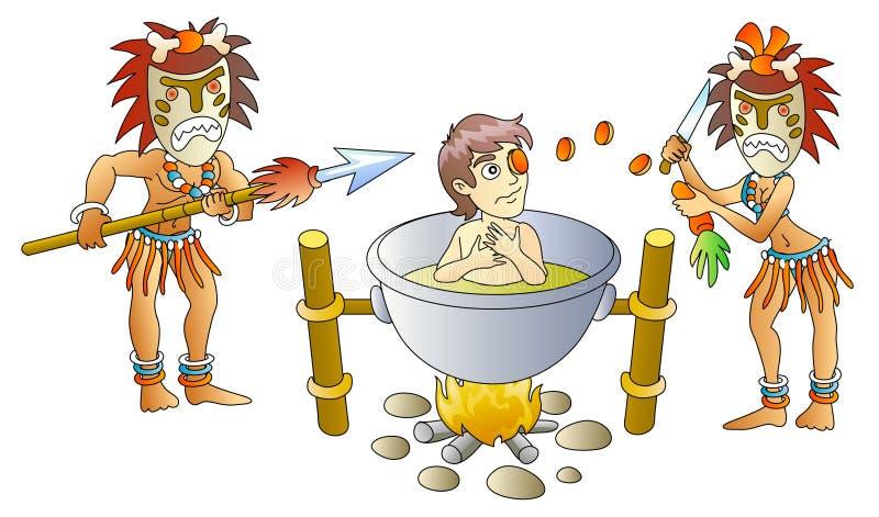 Canibalismo stock de ilustración