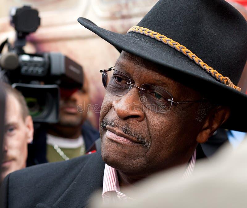 Canidate presidencial republicano Herman Cain imagen de archivo