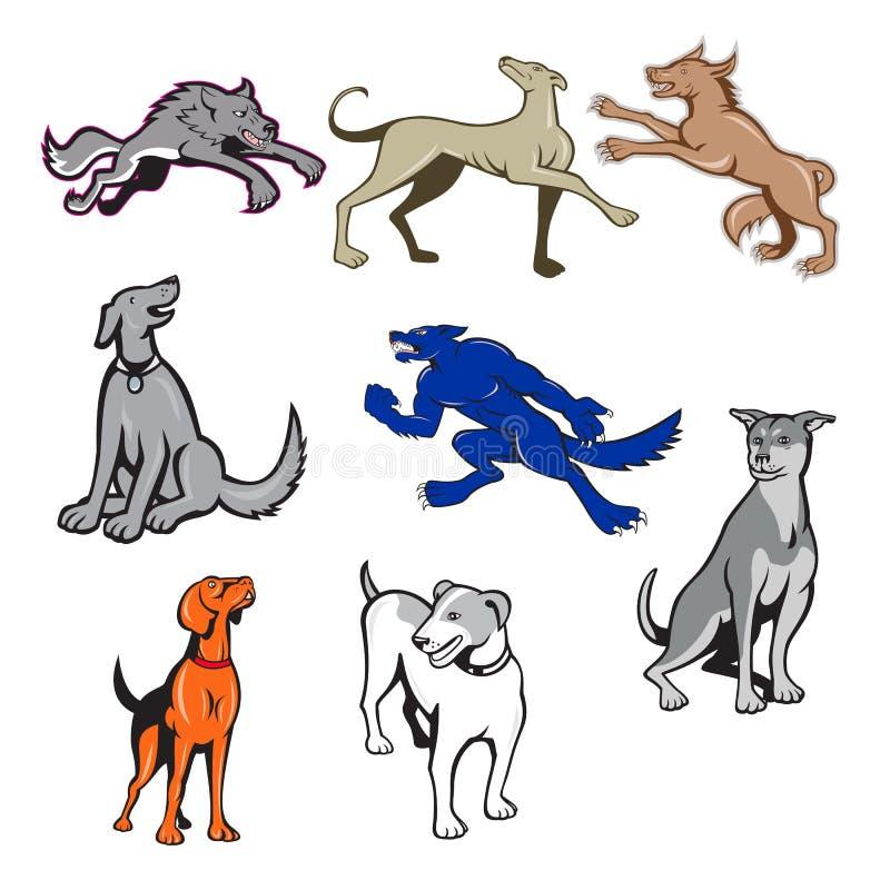 Canine Cartoon Set ilustração do vetor