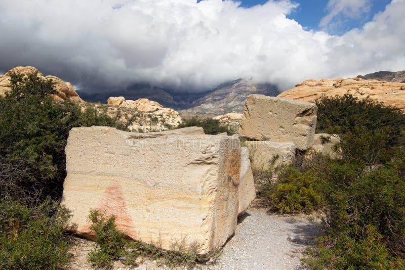 Canion NCA van de Rots van het zandsteen de steengroeve-Rode stock afbeelding