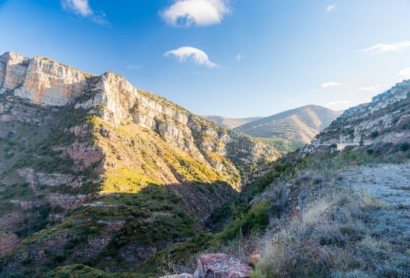 Canion Rio Leza fotografie stock