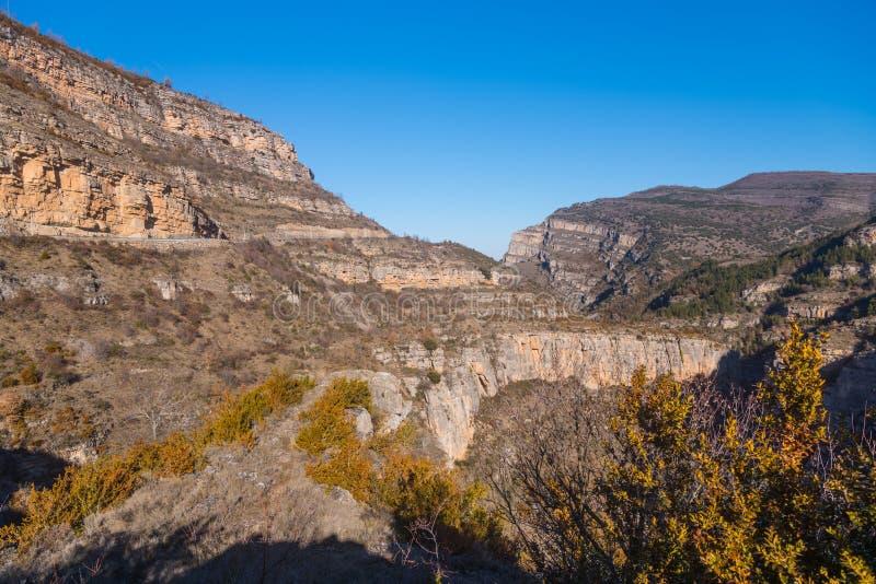 Canion Rio Leza fotografie stock libere da diritti