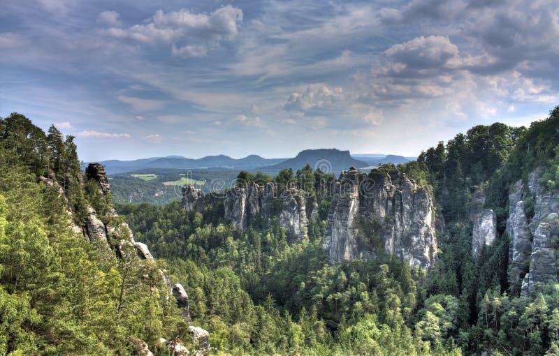 De Canion van Saksen stock foto's