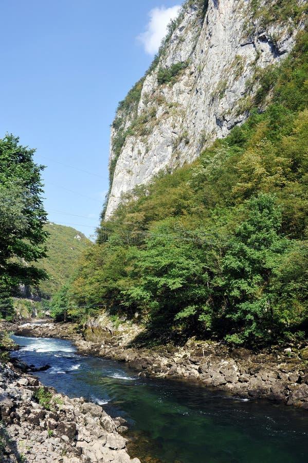 Canion van rivier Vrbas royalty-vrije stock afbeelding