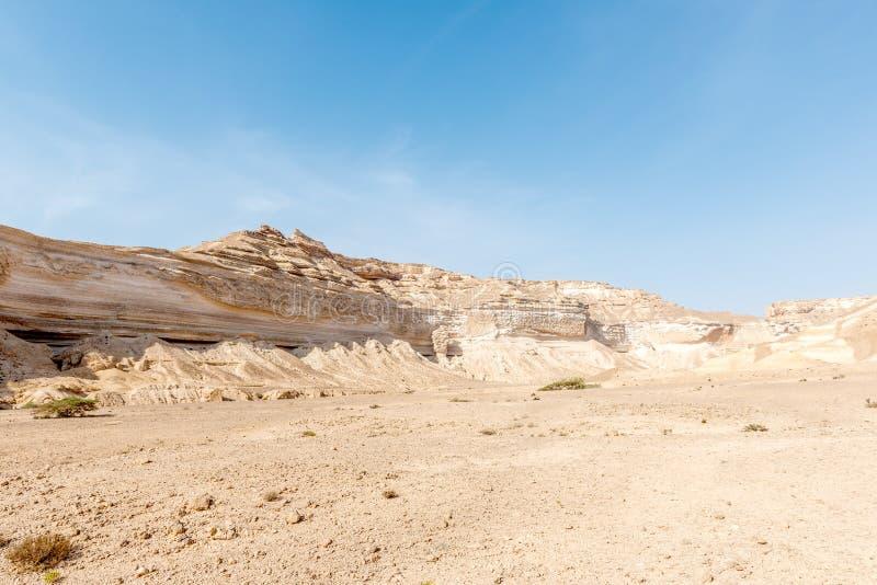 Canion van Wadi Ash Shuwaymiyyah (Oman) royalty-vrije stock fotografie
