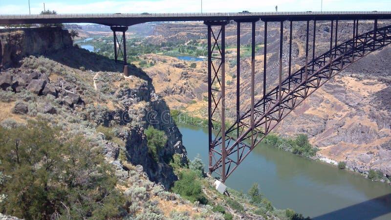 Canionbrug stock afbeelding