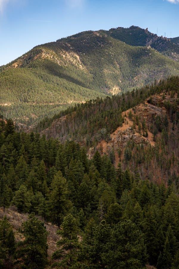 Canioncanon Colorado Springs de Noord- van Cheyenne stock afbeeldingen