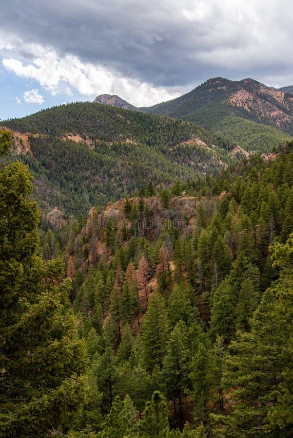 Canioncanon Colorado Springs de Noord- van Cheyenne royalty-vrije stock afbeelding