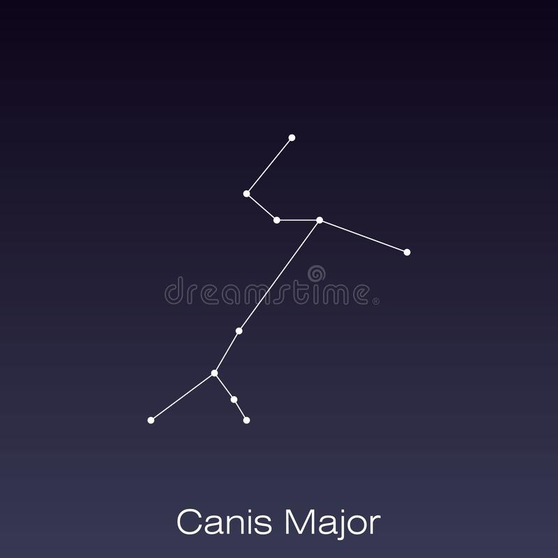 constellation as it can be seen by the naked eye royalty free illustration