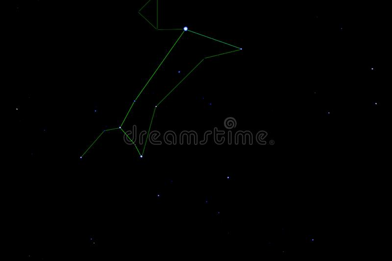 Canis Major-constellatie Stercluster slordigere 41 stock foto's