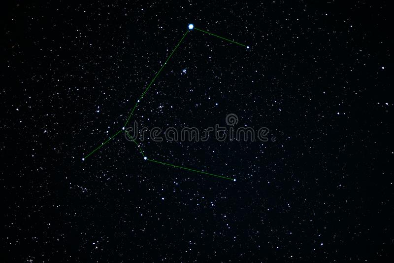 Canis Major-constellatie Stercluster slordigere 41 stock fotografie
