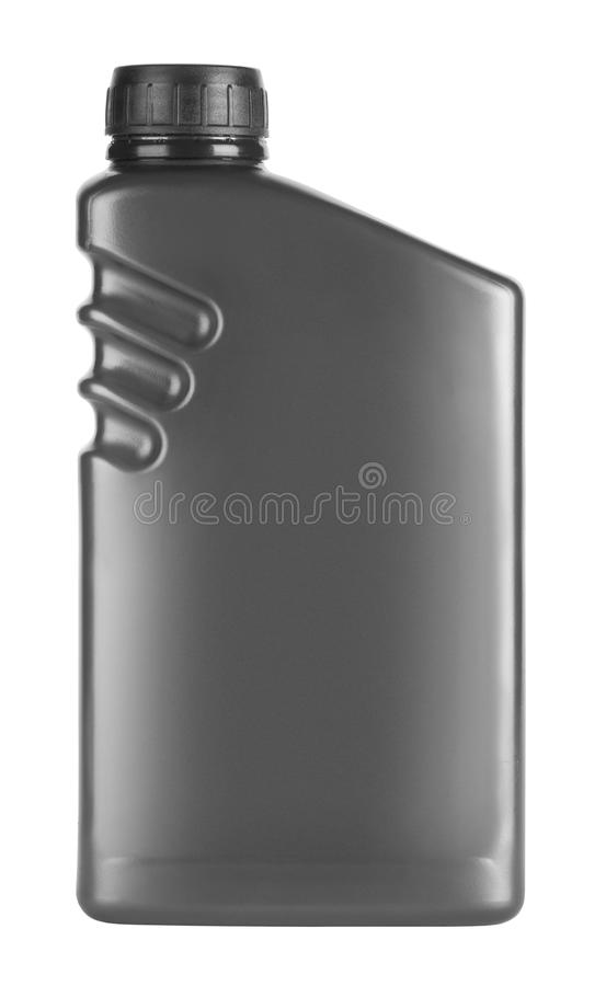 Canister with machine oil stock images