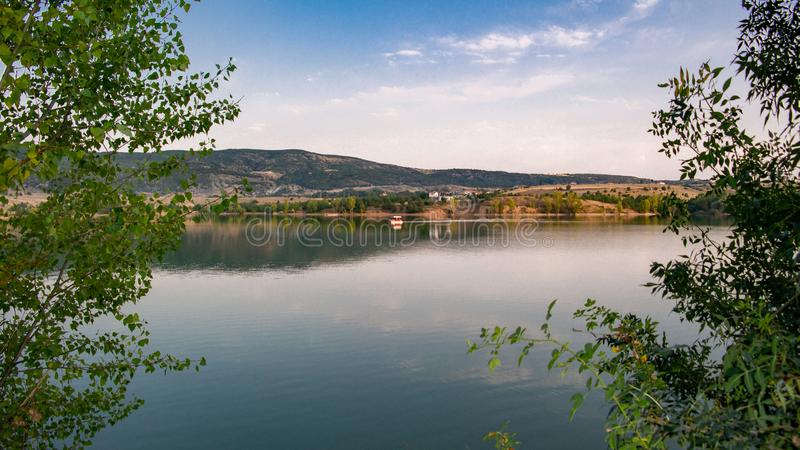 Cankiri-Turkey Alpsari lake for hiking and picnic area.  royalty free stock photos