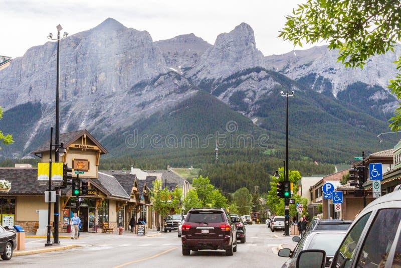 Canmore и скалистые горы стоковые изображения rf
