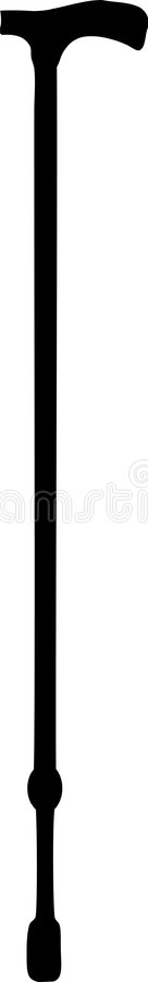 Canna - bastone da passeggio illustrazione vettoriale