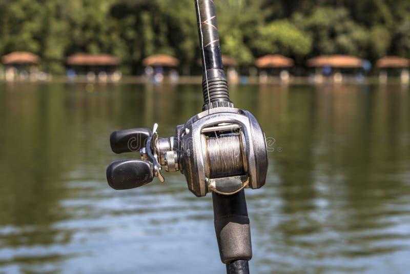 Canna da pesca immagine stock