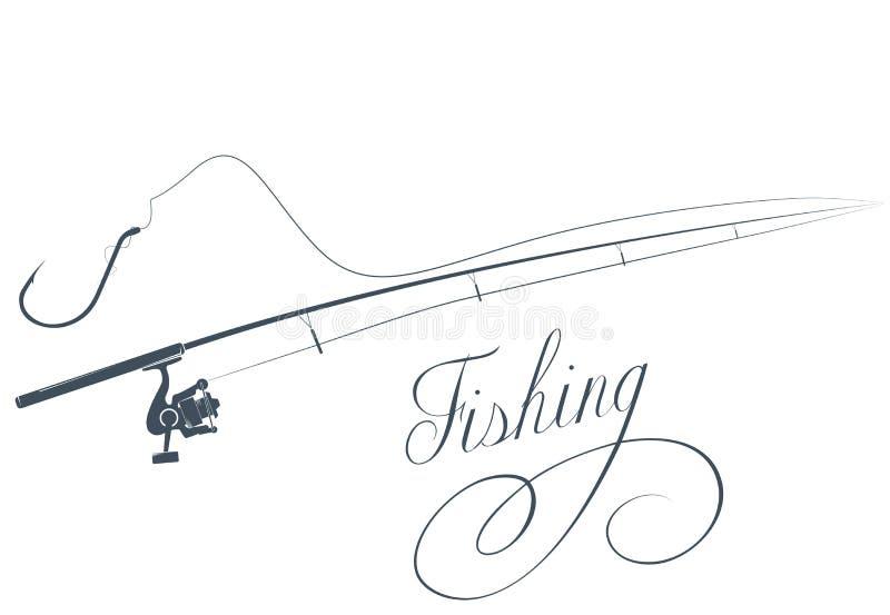 Canna da pesca e gancio di pesca royalty illustrazione gratis