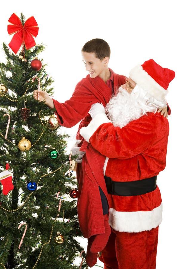 Canna Di Caramella Per Santa Fotografia Stock Libera da Diritti