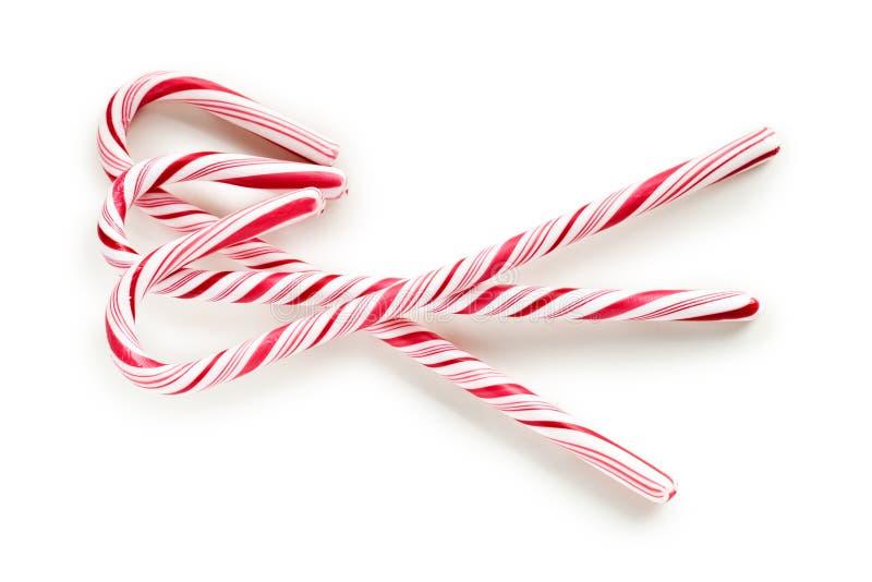 Canna di caramella Stripy fotografie stock libere da diritti