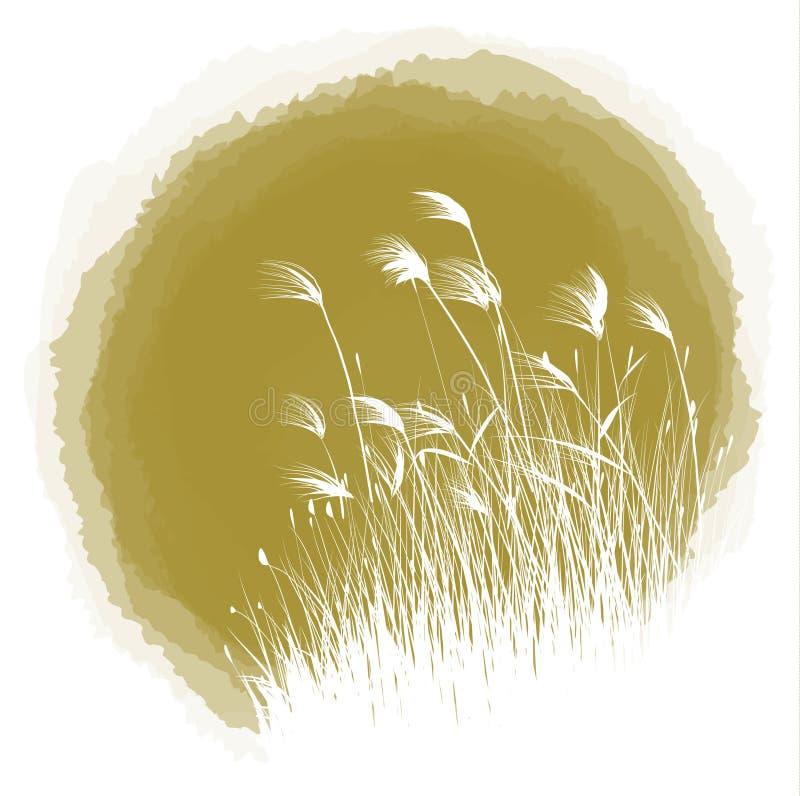 Canna di goccia dell'inchiostro illustrazione vettoriale