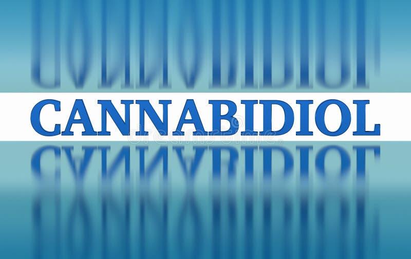 Cannabidiol des einzigen Worts stock abbildung