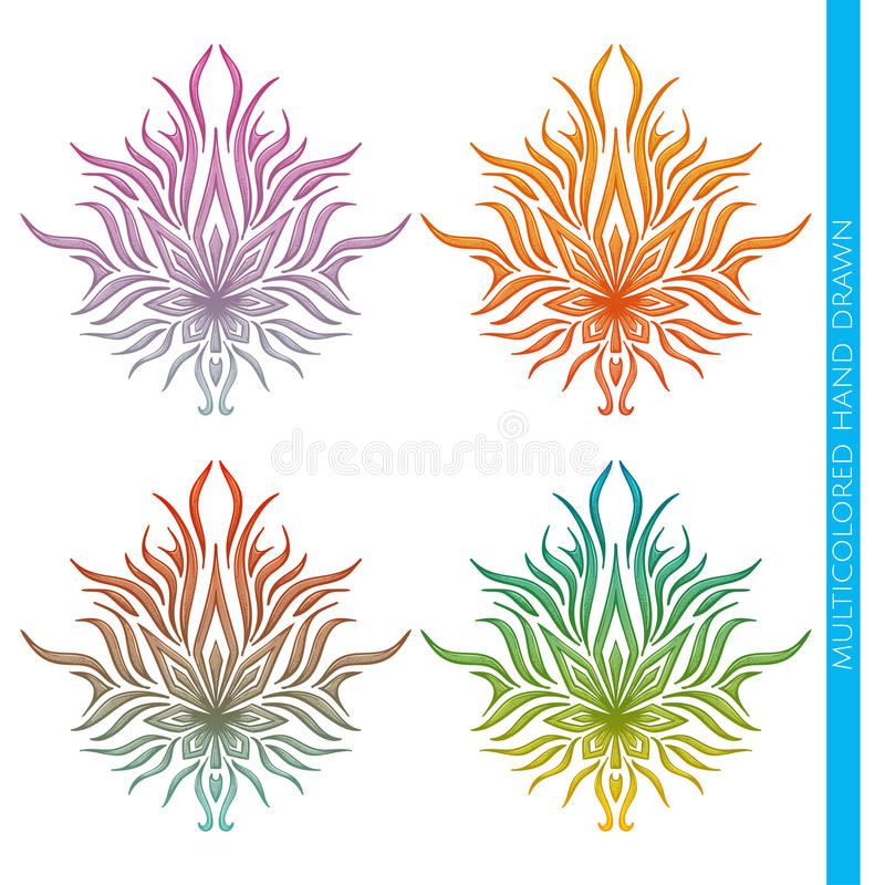 Cannabis Abstract Multicolored royalty free illustration
