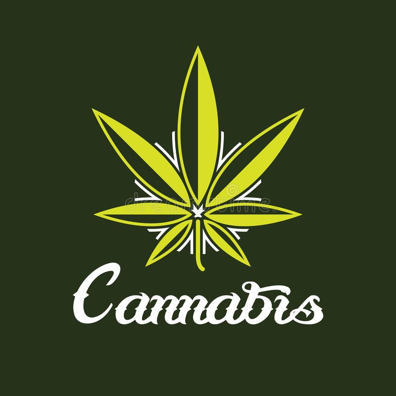 Cannabis criativo Logo Symbol Icon fotos de stock