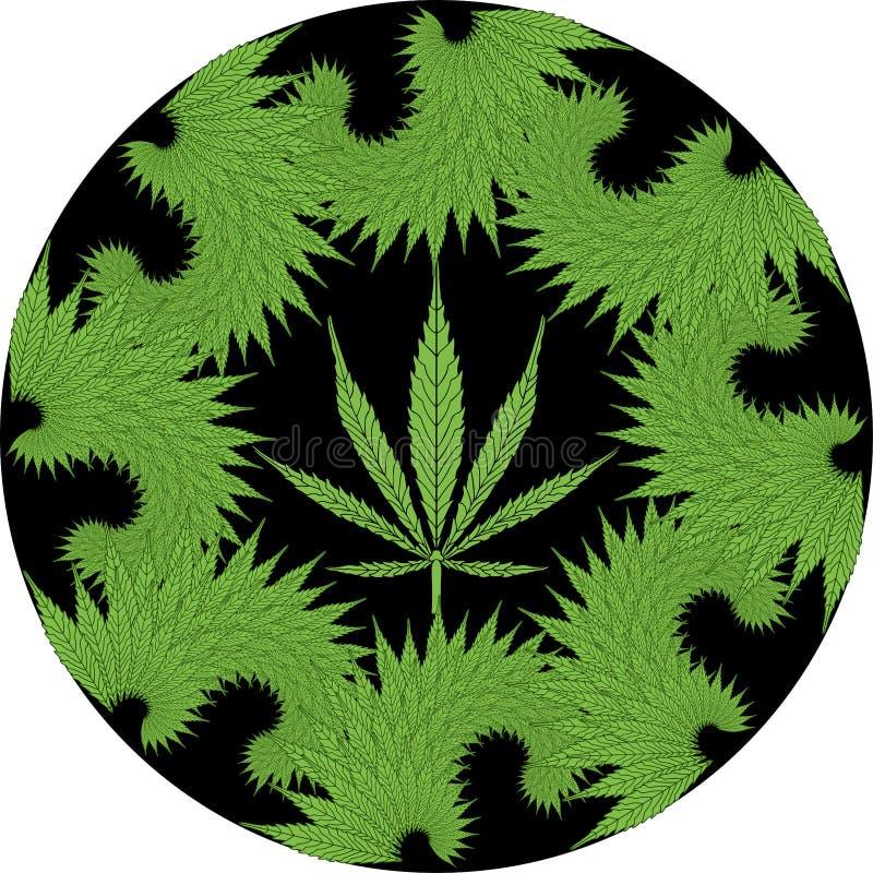 Cannabis de fractale illustration stock