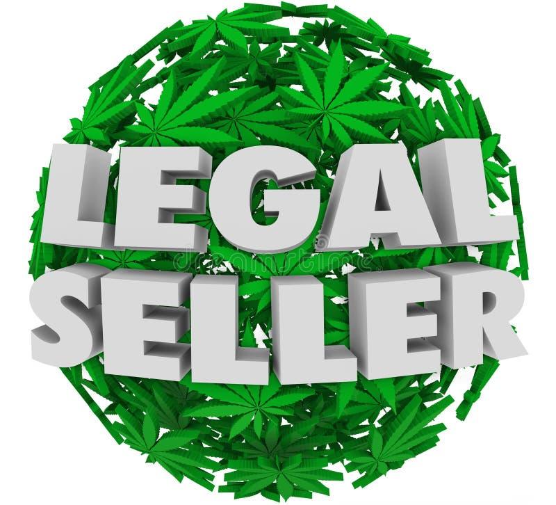 Cannabis del coltivatore autorizzata vaso legale della marijuana del venditore royalty illustrazione gratis